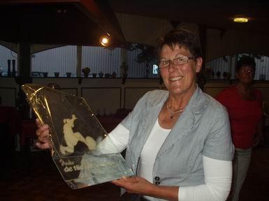 Janke Otter in 2007, 25 jaar lid van de BVH