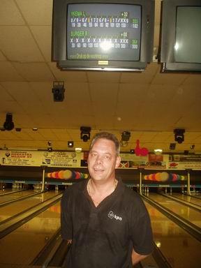 Rene Burger, eerste lid die op 23-10-2009 een perfect game (300) gooit